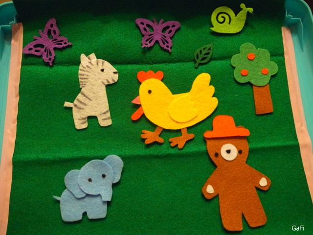 不织布板说故事 可爱动物篇 简易不织布板制作分享