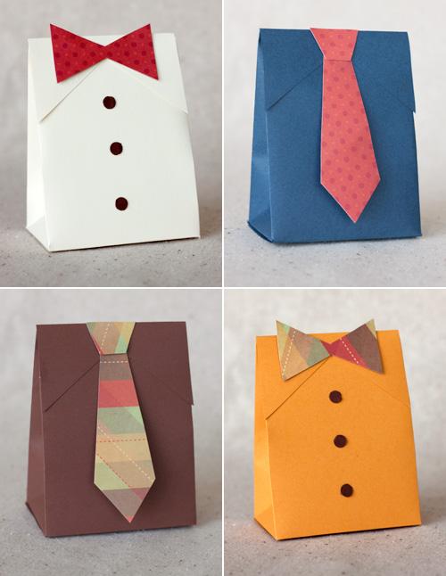 < D I Y > 父親節 ❤ 手工造型禮袋