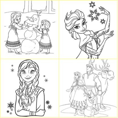 安娜 colouring pages