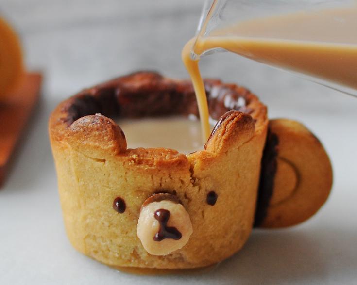 把杯子也一起吃掉吧~小熊可可餅乾杯