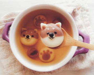 可愛又療癒,不加一滴水的懶人料理~ 柴犬鮮奶湯圓