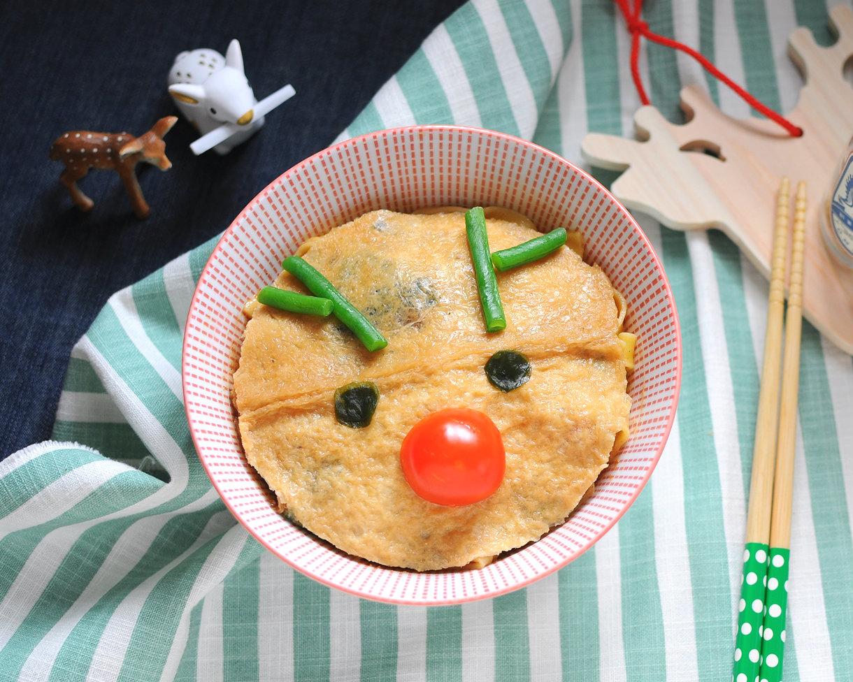 多一點擺盤,廚藝上升一萬分~豆皮麋鹿麵!