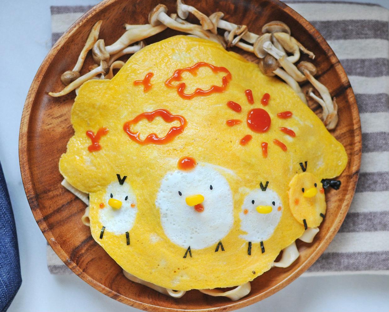 「雞肥屋潤蛋包麵」,一家大小來拜年!