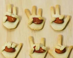 剪刀、石頭、布!手指造型蜂蜜餅乾