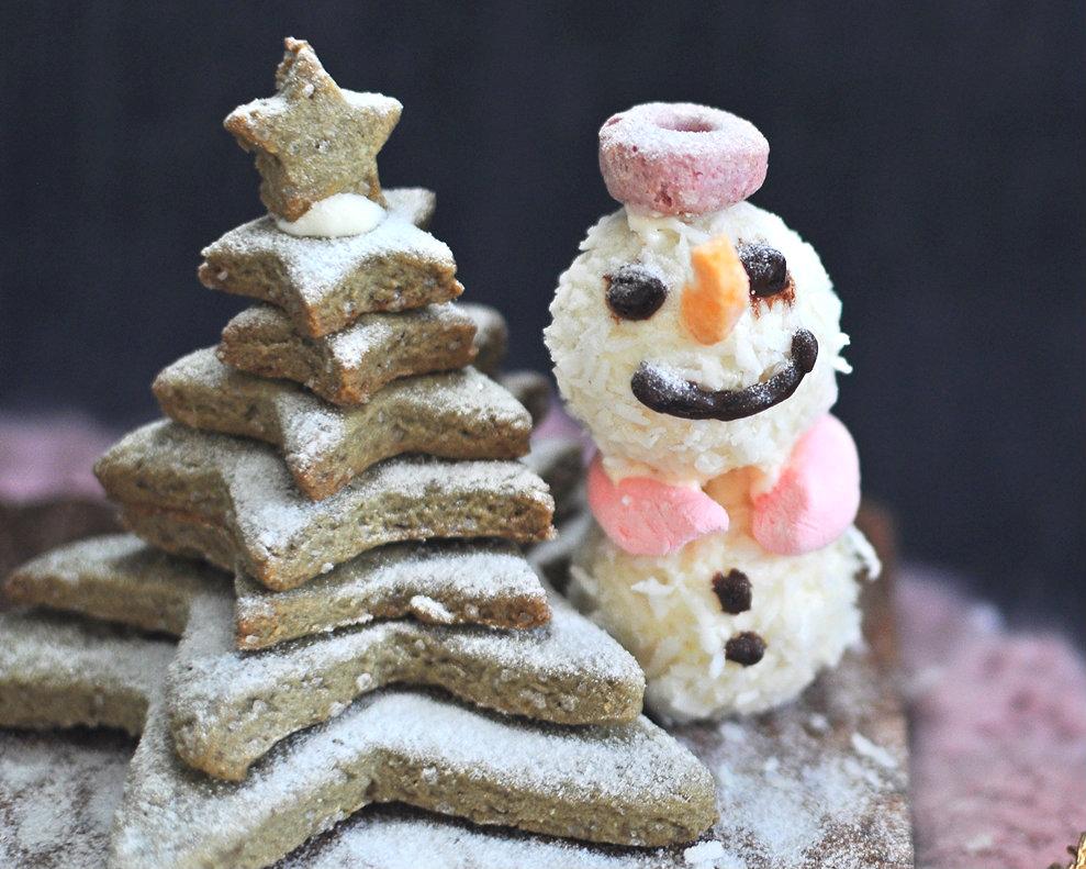 快來堆雪人、點亮星星聖誕樹!