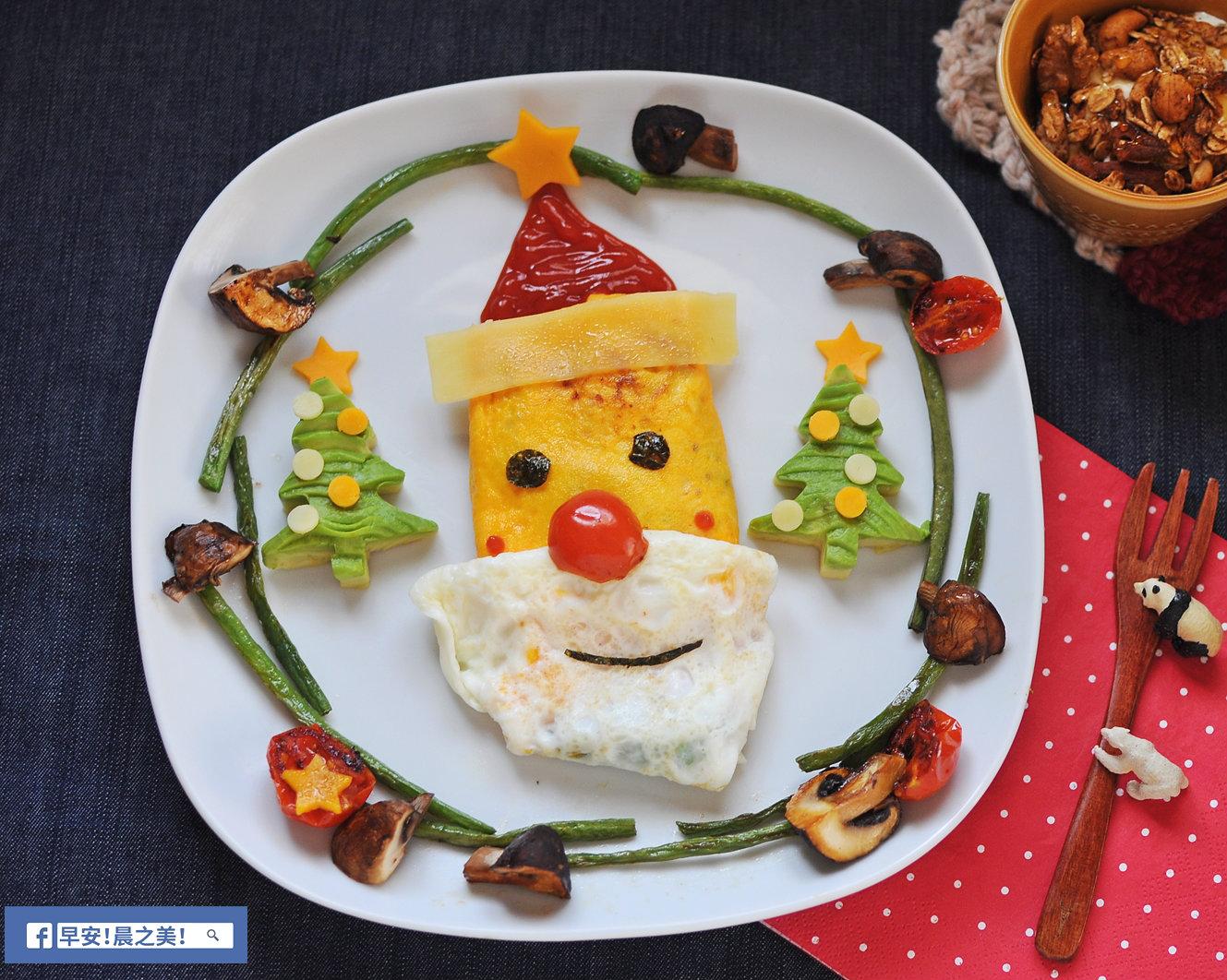 可愛又美味!聖誕老人蛋捲