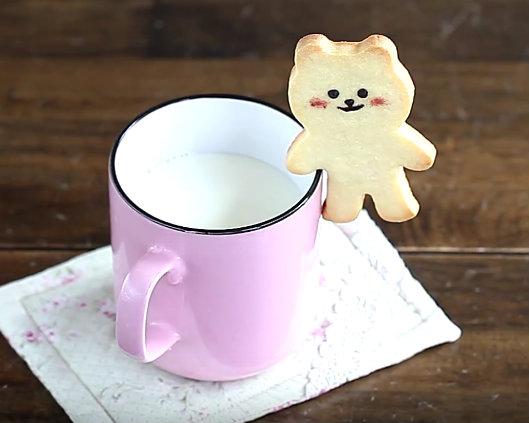 可以吃的杯緣子~小熊掛耳餅乾