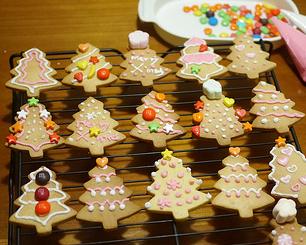 超完美口味~可愛聖誕樹壓模餅乾