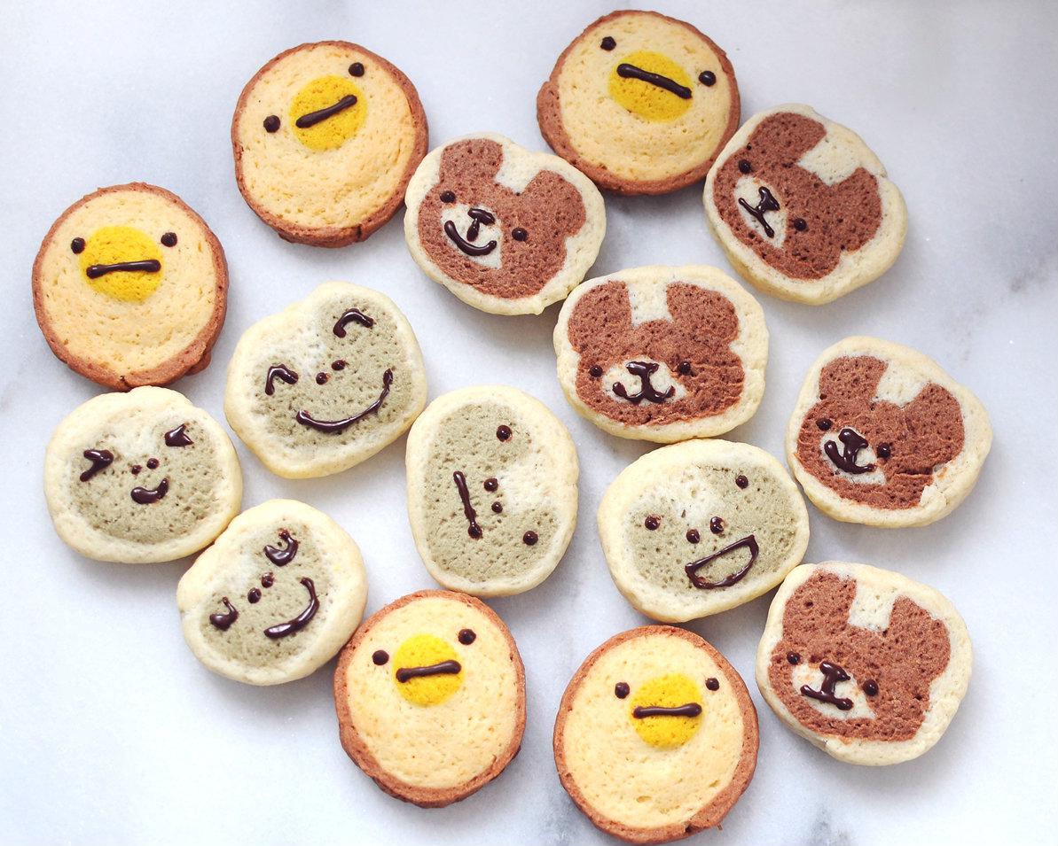只要五個材料,可愛動物餅乾萌出來!