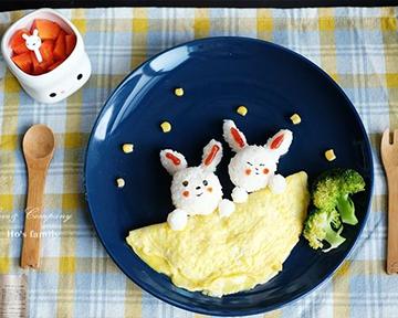 跟著玉兔賞月去!兒童便當食譜~中秋節早餐