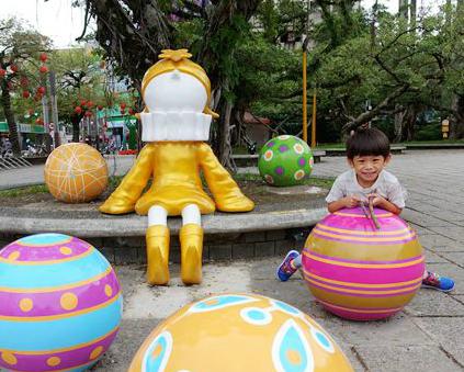 大快朵頤前盡情放電,好拍好玩童趣藝術裝置~宜蘭羅東中山公園